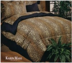 High Quality LEOPARD PRINT WATERBED SHEETS For Traditional Wood Side Waterbeds