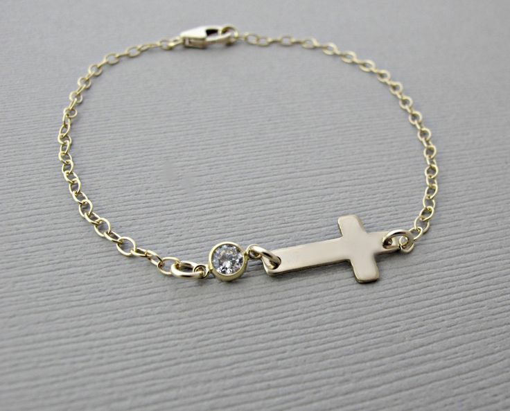 sideways cross bracelet, cross bracelet, sideways cross bracelet, cross bracelet, sideway cross bracelet, Gold Cross Bracelet