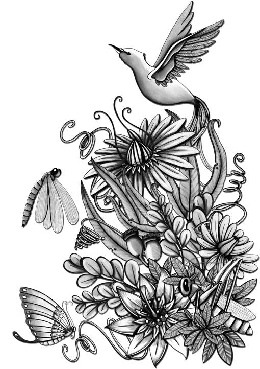 Springtime Illustrations by Camila Carmody, via Behance