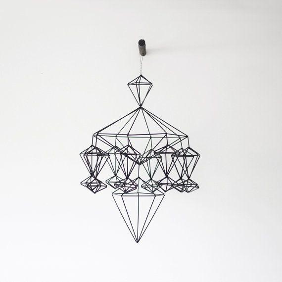 Himmeli no. 8 / Modern Hanging Mobile / Geometric von HRUSKAA, $143.00