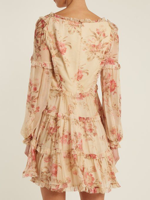 fe06aa67b9f Zimmermann Corsair Frill floral-print silk-georgette dress