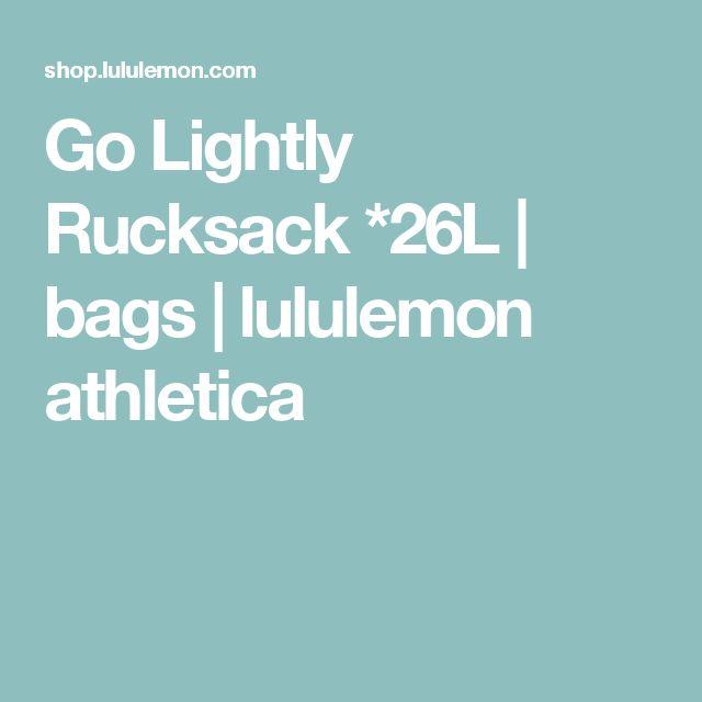 Go Lightly Rucksack *26L  | bags  | lululemon athletica