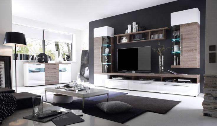 Elegant Wohnzimmerwand Modern Wohnzimmer ideen Pinterest - neue küche ikea