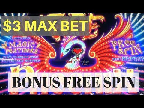 EVERI MULTIMEDIA GAMING / FIRE PHOENIX / MAGIC FEATHER SLOT MACHINE $3 B...