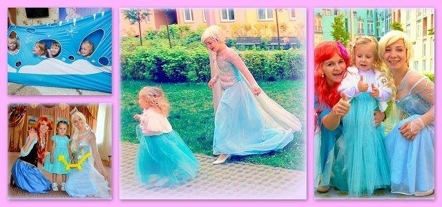 Аниматоры Киев,Детский праздник с Принцесса Ельза и Анна и Олаф. kidsb party Frozen birthday party