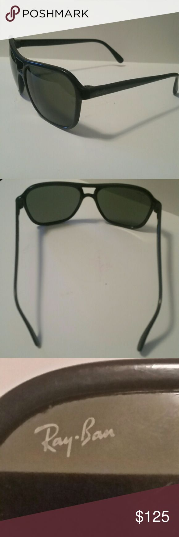 VINTAGE B&L RAY BAN L1588 SHINY BLK G15 UV SQUARE VINTAGE B&L RAY BAN L1588 SHINY BLACK G15 UV SQUARE CATS 4000 SKI SUNGLASSES  These are authentic and no scratches, great condition, shipped out several day as purchased, comes with microfiber cleaning cloth. Get these vintage and rare sunglasses before they are gone. They have grey lenses which help cut glare and make driving easier. Plus they look cool. Ray-Ban Accessories Sunglasses