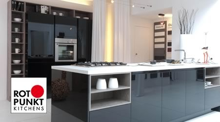 Rotpunkt Lacquered Kitchens.  In your kitchen you can see yourself – in both senses of the word! Lacquer sets priorities. Colours are fresher and brighter – at the same time these lacquered kitchens are easy to clean and are brought back to their original lustre even after a hard day's work. Lacquered kitchens are kitchens for genuine individualists. Choose a German Kitchen with personality for personalities.