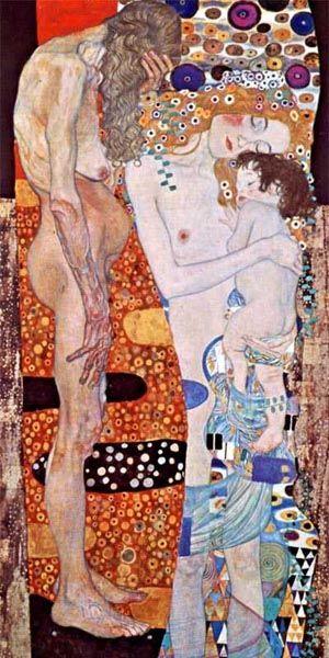 Gustav Klimt: Three Ages of Women, 1905. Galleria Nazionale d'Arte Moderna, Rome