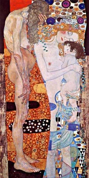Gustav Klimt: Three Ages of Women, 1905. Galleria Nazionale d'Arte Moderna, Rome