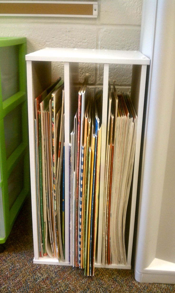 """DIY Big Book Shelf!  Buy two Closetmaid 24"""" (or 31"""") horizontal organizers and put together using two ends and all four shelves.  Need to drill holes for new shelves.  Turn upright and voila' - cheap big book shelf!!"""