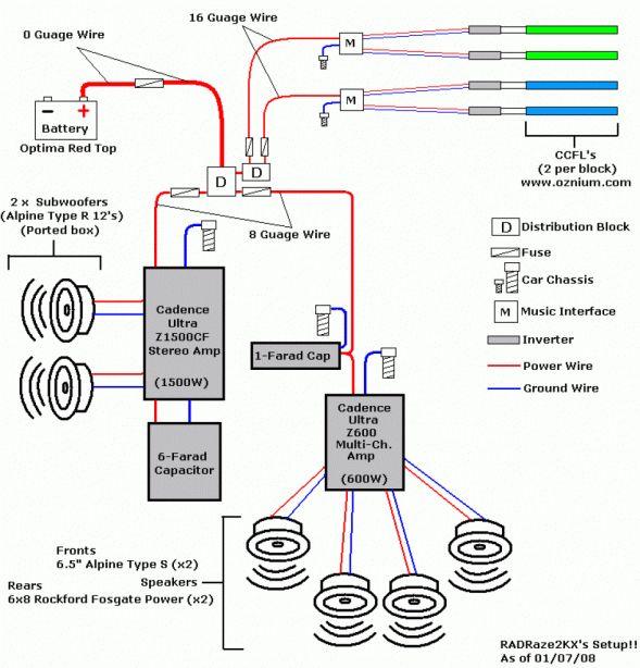 16 car stereo power amp wiring diagram  car diagram