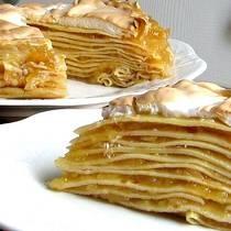 Apple Meringue Pancake Torte Recipe - Hungarian Almas Palacsinta