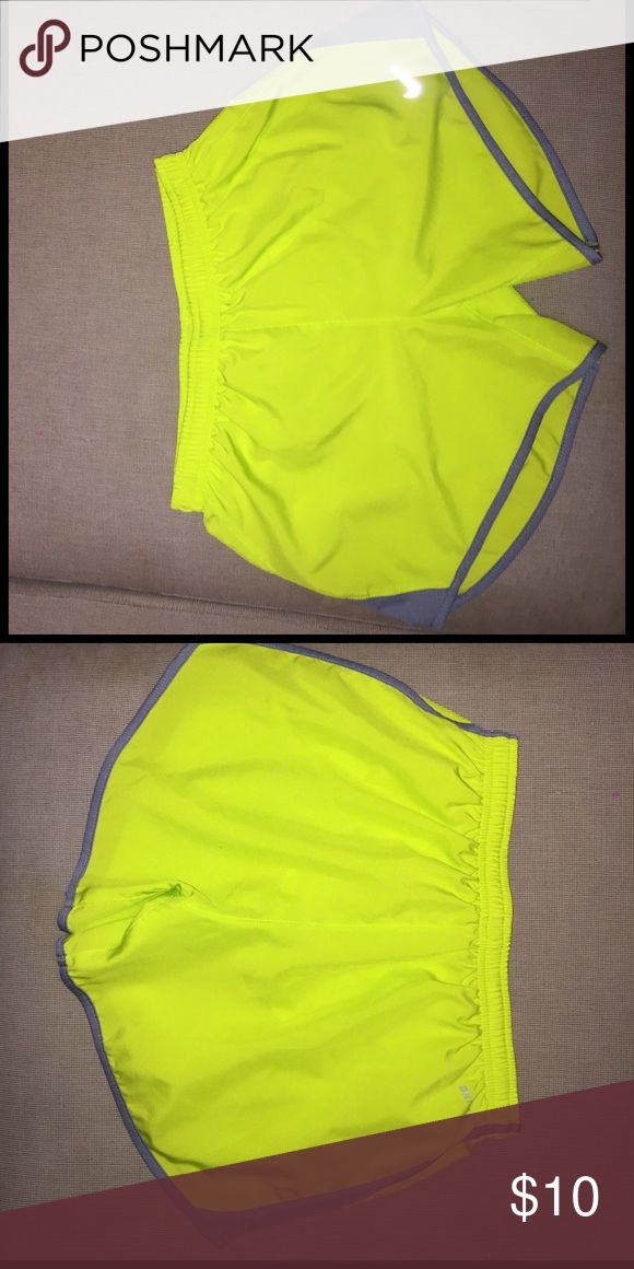 Nike dri fit running shorts Neon yellow shorts, never worn Nike Shorts