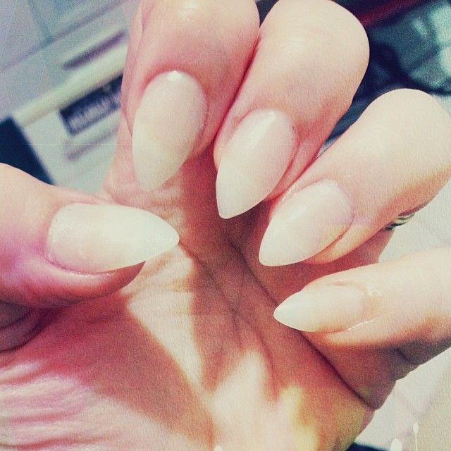Naked ladies! #nails #stilettonails #clawlife