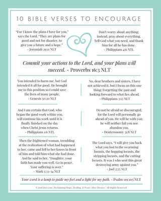 FREE PRINTABLE!! 10 Verses to Encourage   Scripture Promises for the Divorced Woman   By Jen Grice