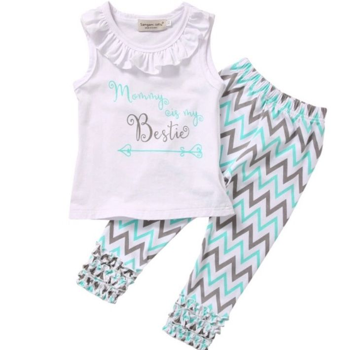 Mommy Is My Bestie Chevron Outfit