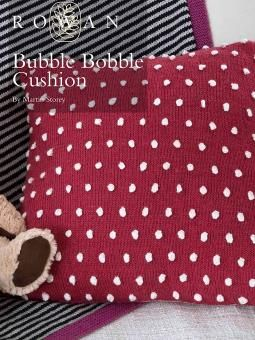 Bubble Bobble Cushion by Martin Storey from Rowan. Free pattern to for download http://www.knitrowan.com/files/patterns/Bubble_Bobble_Cushion.pdf #Knitting