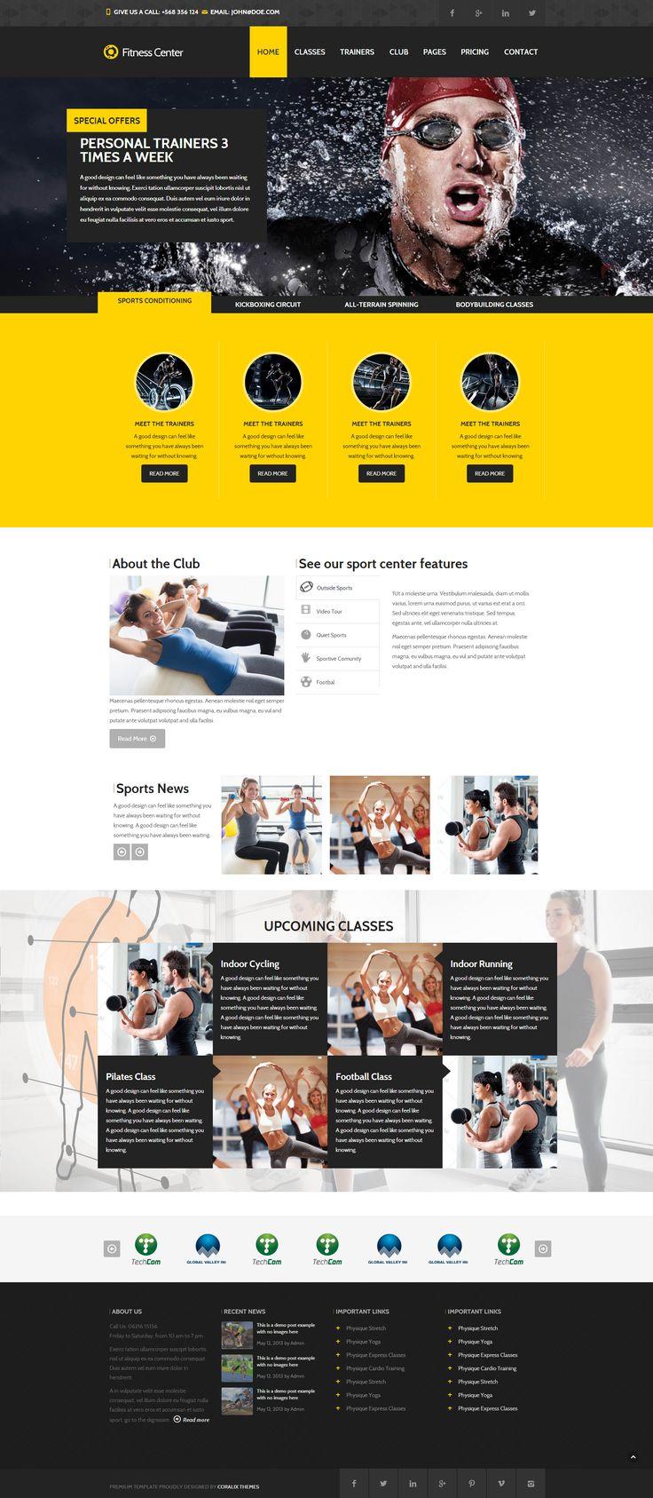 gym website design