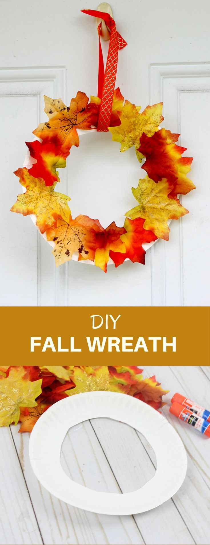 DIY Fall Wreath: A Dollar Store Kid's Craft