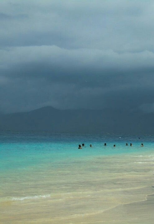 Gili island!  There's a storm on the horizon.
