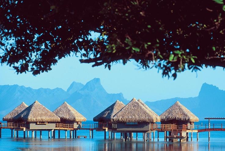 An overwater bungalow at Le Meridien Tahiti