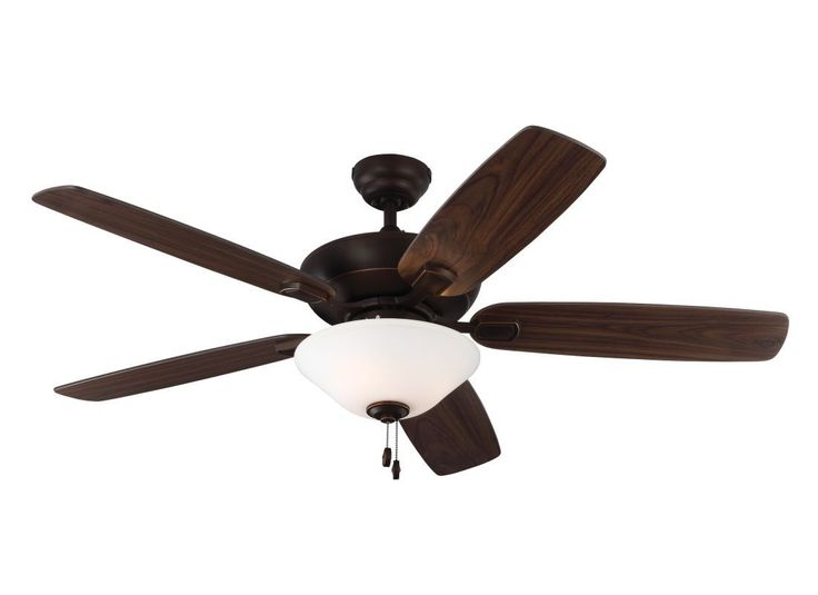 """Monte Carlo Colony Max Plus 5 Blade 52"""" Indoor Ceiling Fan - Light Kit and Blade Roman Bronze Fans Ceiling Fans Indoor Ceiling Fans"""