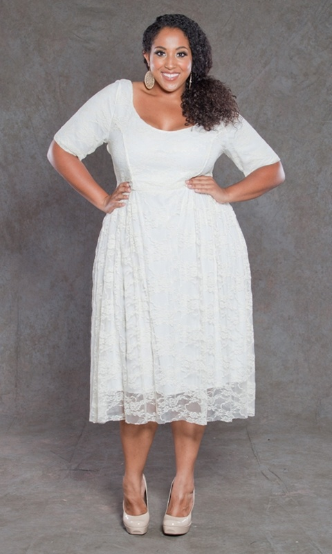 Plus Size White Lace Dress – Fashion dresses
