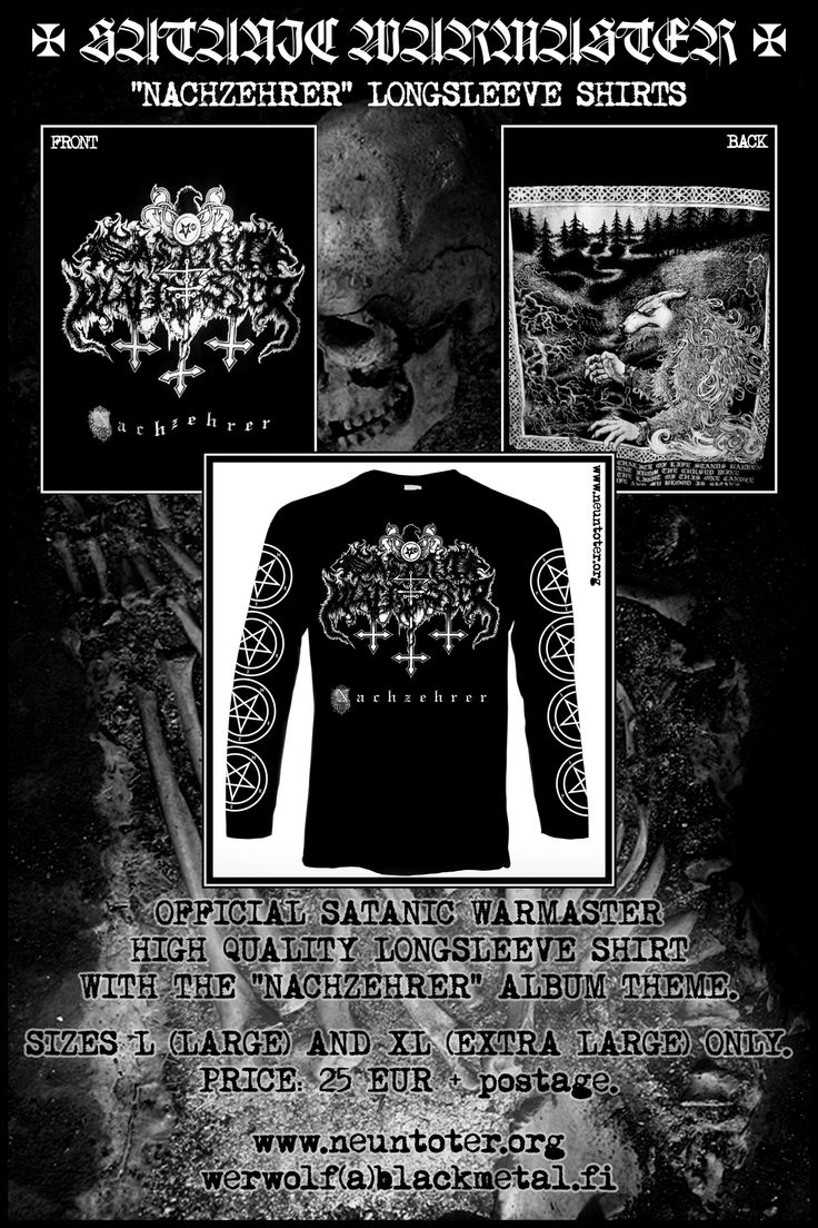 Satanic Warmaster Flyer Satanic Warmaster Satan Long