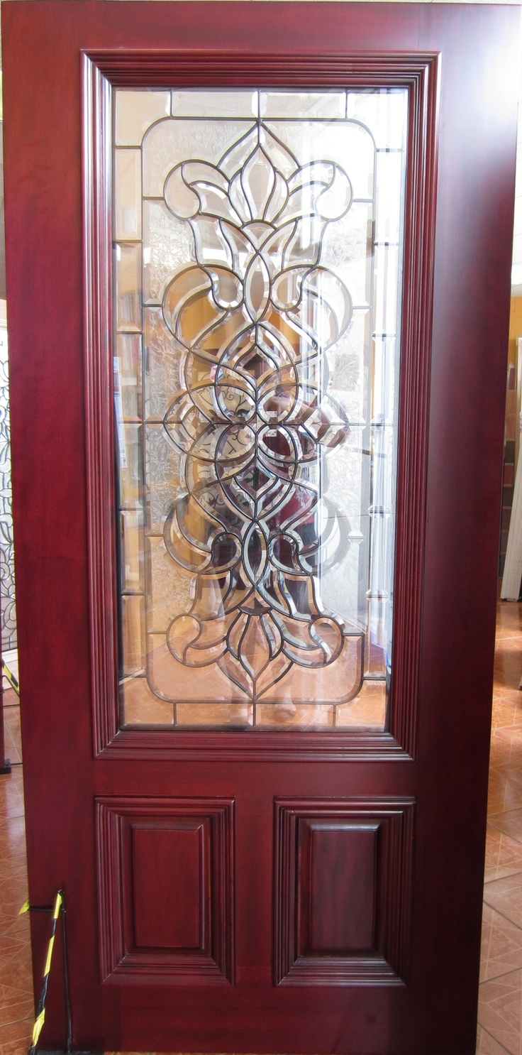 1000 images about decorative glass mahogany wood doors on for Wood door with glass