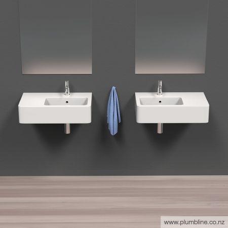 Hero 63 Left Basin 1 Taphole - Basins - Bathroom