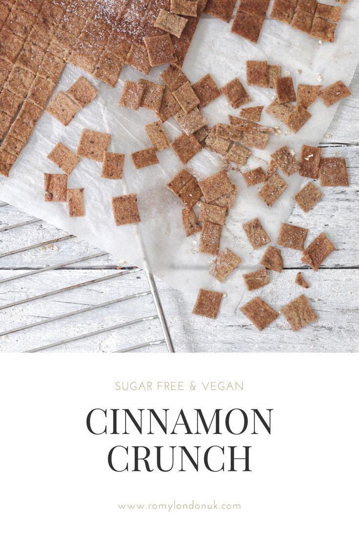 Sugar Free & Vegan Cinnamon Crunch Cereal Recipe by Romylondonuk