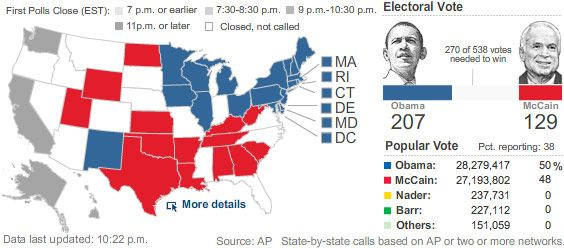 WSJ 2008 Election Map