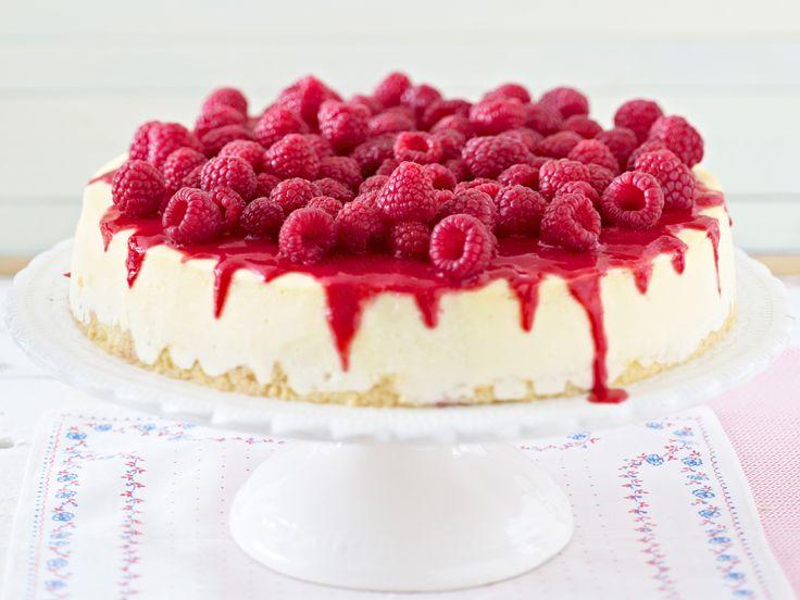 Himbeerkuchen – rosa-rote Kuchenträume - new-york-cheesecake-himbeeren  Rezept