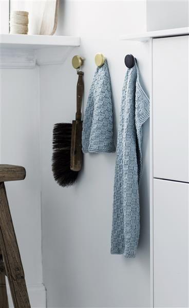 T44: Design 17 Klut med rutemønster #bomull #cotton #strikk #knit #klut #washing