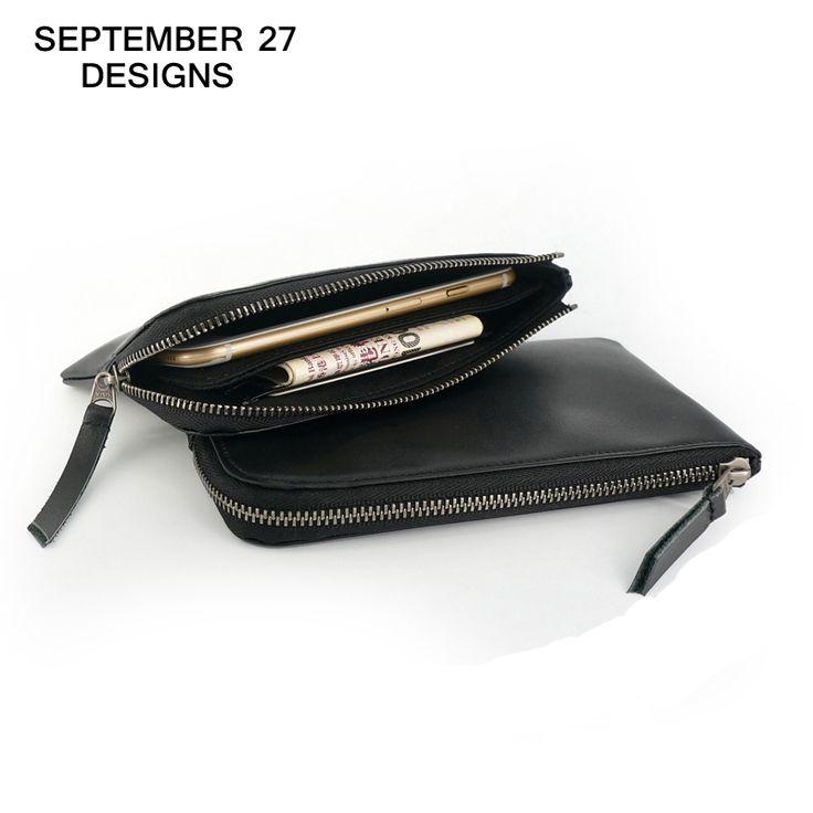 Men wallet luxury brand genuine leather women wallets Phone purses male change purse lady Money Bag long handbags Coin Pocket