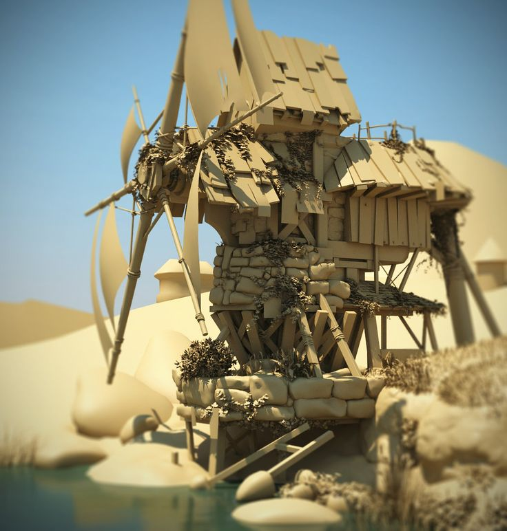 Abandoned Mill 3D, Toby Lewin on ArtStation at http://www.artstation.com/artwork/abandoned-mill-3d