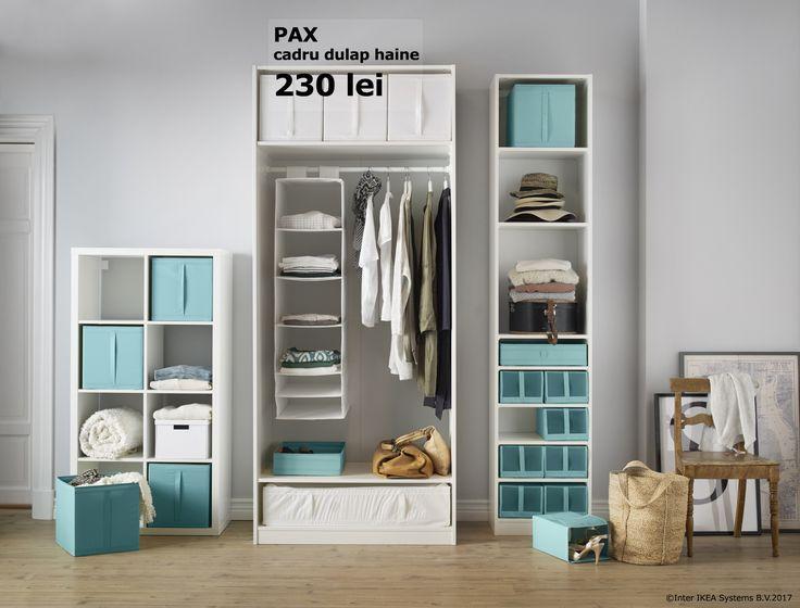Știm că fiecare are felul lui de a organiza lucrurile prin casă. De aceea, sistemul de depozitare PAX este modular, pentru ca tu să alegi varianta potrivită. În perioada 30.01 - 26.03.2017, te bucuri de până la 20% reducere la sistemele de depozitare PAX și ALGOT. Oferta este valabilă în limita stocului disponibil și doar pentru membrii IKEA FAMILY.