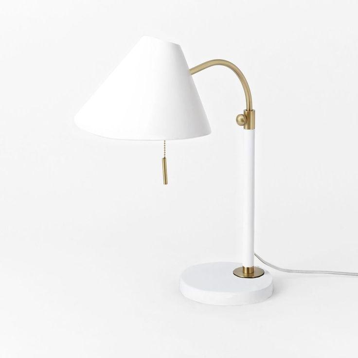 Mid-Century Task Table Lamp - White