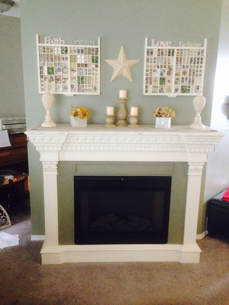Electric Fireplace Makeover Annie Sloan Old White And