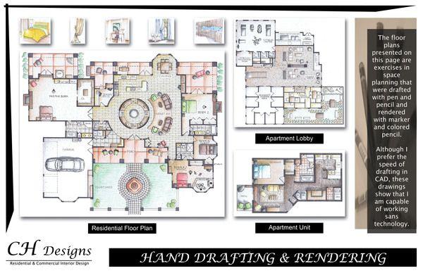 CH Designs Interior Design Portfolio by Carey Howerton, via Behance