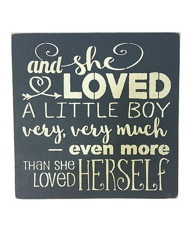 Look what I found on #zulily! 'And She Loved a Little Boy' Wall Art #zulilyfinds