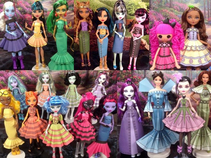 volume 2 printable doll clothes printable paper dresses that fit monster high ever after high and more by printabledollclothes on etsy httpsw