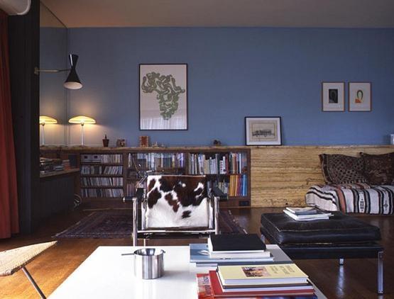 blue-walls-cow-skin-chair