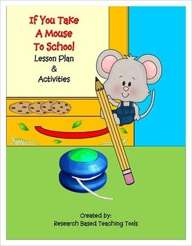 """Based on the popular book,"""" If You Take A Mouse To School,"""" by Laura Numeroff our Lesson Plan and Activities will help you start the school year full of excitement. Our product includes the following: Lesson Plan based on Blooms Revised Taxonomy Calendar Pieces and Desk Name Plates 4 High Frequency Word File Folder Games Based on Frys 1st 100 words 17 Kinesthetic Cards 18 Magnetic Word Cards 12 Play Dough Word Cards 2 Reading Comprehension Work Sheets 15 Scrabble Letter Word Cards Story…"""