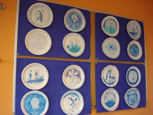 Knutselen: 3d Delfts blauw