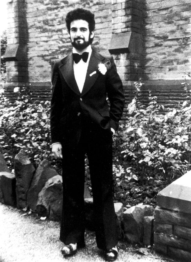 British serial killer Peter Sutcliffe, a.k.a. 'The Yorkshire Ripper,' on his wedding day, August 10, 1974