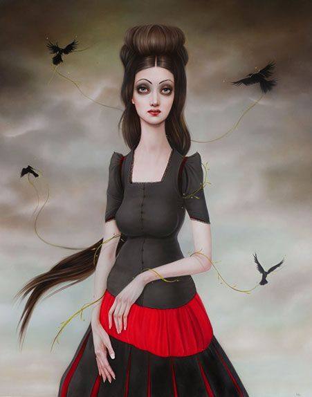 Sarah Dolby's Latest Fairytale Character-Driven Portraits   Hi-Fructose Magazine