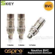 10 pcs/lot Nautilus BVC 1.6 ohm 1.8 ohm 0.7ohm Vape Coils Bottom Vertical Core For Aspire Nautilus and Nautilus Mini Tank