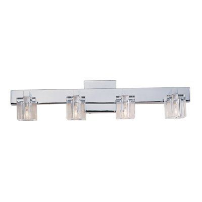 Portfolio 4-Light Polished Chrome Bathroom Vanity Light