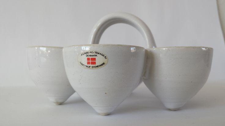 Birkerød Pottemageri Denmark Egg tray with Sticker ( 1970's ? )